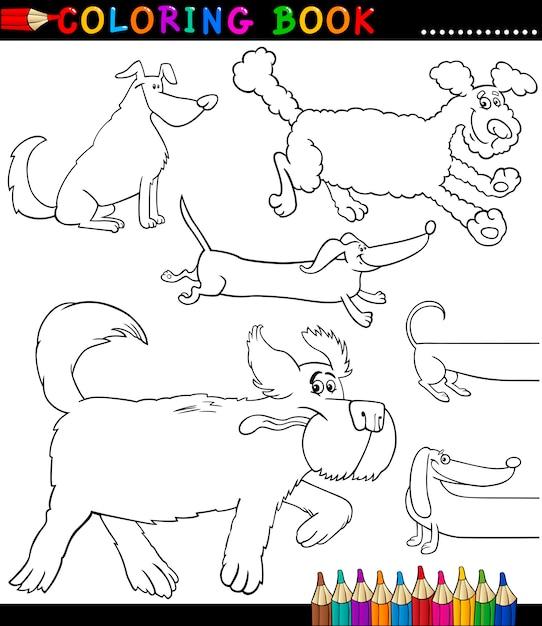 cachorros de desenhos animados ou página de colorir filhotes