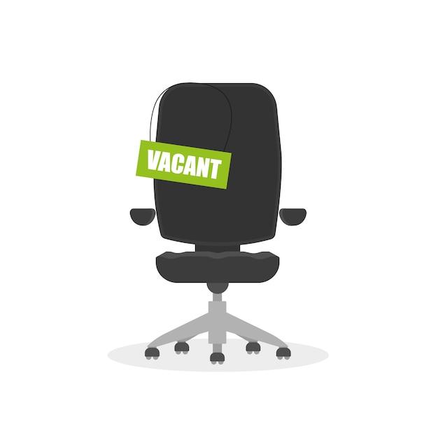 Cadeira com vaga de emprego Vetor Premium