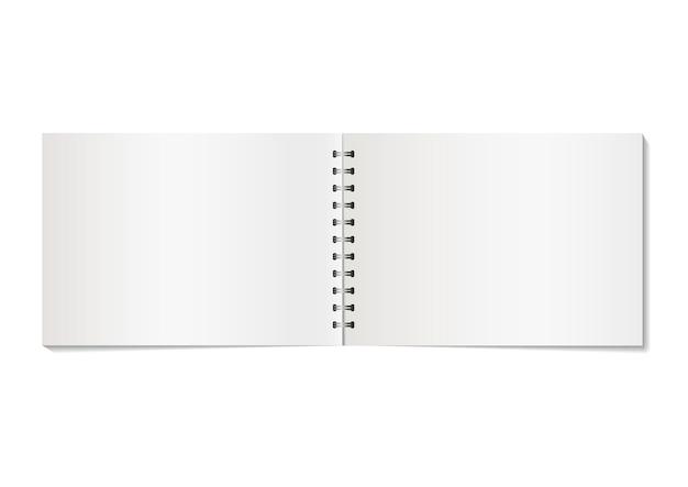 Caderno em branco Vetor Premium