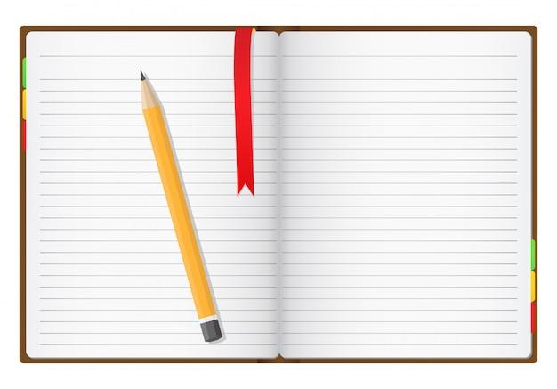 Caderno Vetor Premium