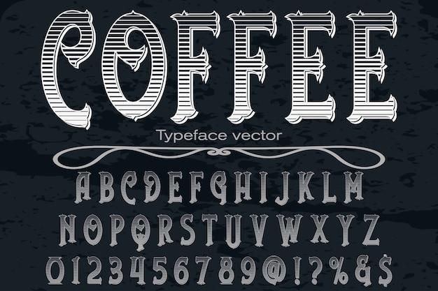 Café de design de rótulo de fonte Vetor Premium