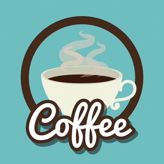 Café delicioso Vetor grátis