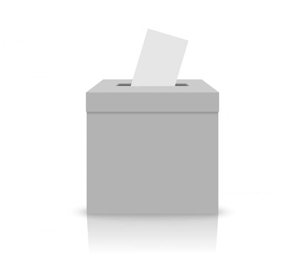 Caixa de eleição branca Vetor Premium