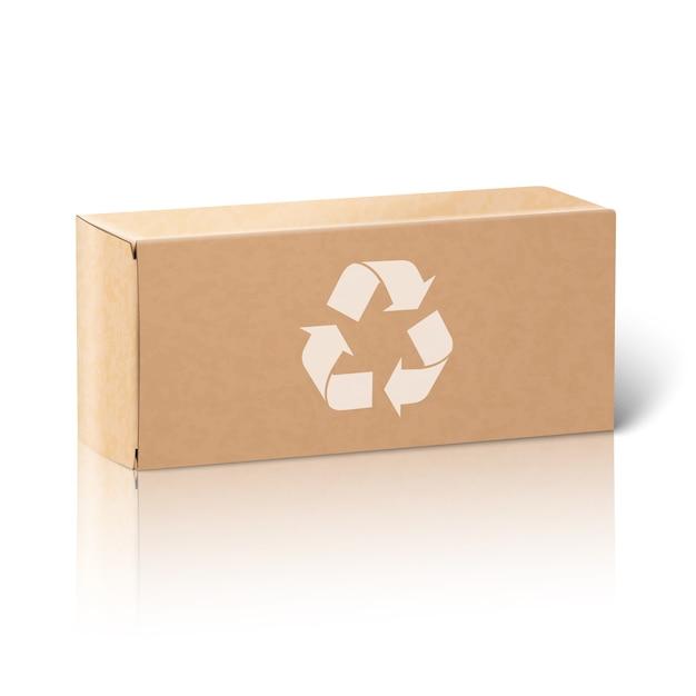 Caixa de embalagem de papel em branco realista Vetor Premium