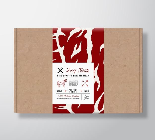 Caixa de papelão artesanal de qualidade premium. Vetor grátis
