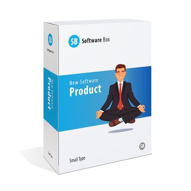Caixa de software de cartão branco Vetor grátis