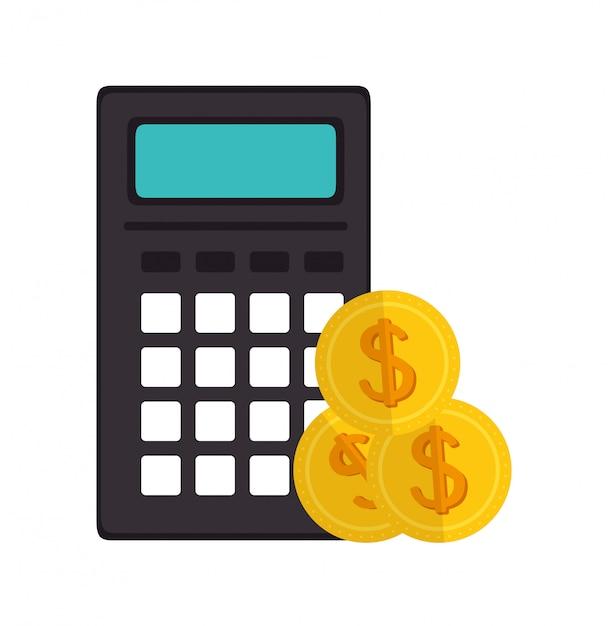 Calculadora de ícone e-commerce design Vetor Premium