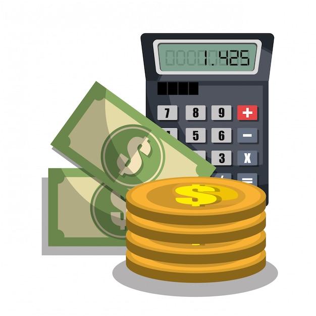 Cálculo de custos Vetor grátis