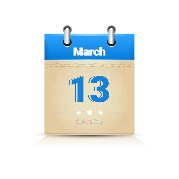 Calendar a celebração tradicional feliz de india holi do feriado religioso de holi cartão comemorativo Vetor Premium
