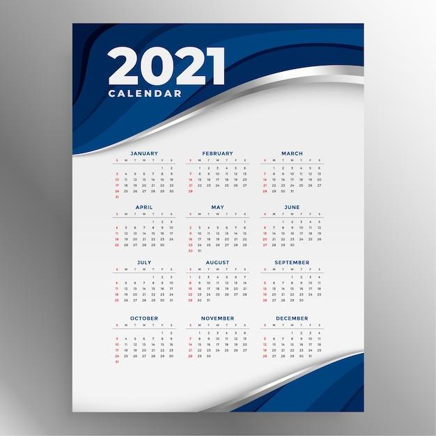 Calendário de ano novo em estilo empresarial Vetor grátis
