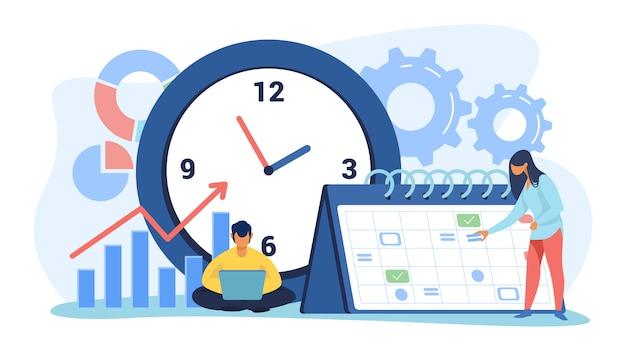 Calendário e cronograma do projeto Vetor grátis