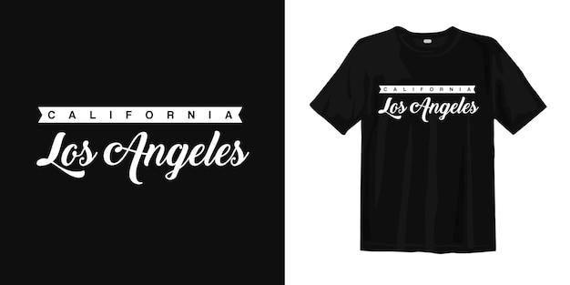 Califórnia los angeles. eua camiseta design vintage estilo urbano desgaste Vetor Premium