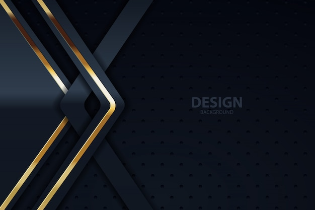 Camada de sobreposição de fundo escuro com dourado prateado Vetor Premium