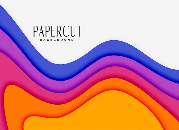 Camadas de papercut vibrantes em cores diferentes Vetor grátis