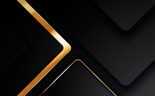 Camadas de sobreposição modernas de fundo abstrato preto Vetor Premium