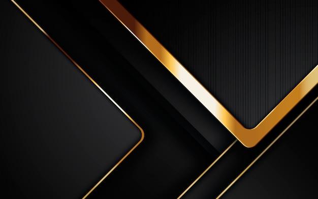 Camadas de sobreposição realistas modernas de fundo preto Vetor Premium