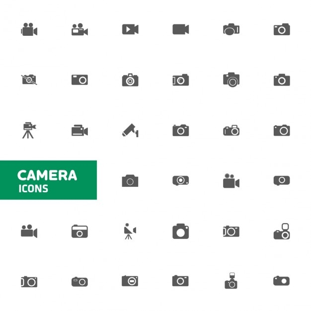 Câmara ícone ajustado para o web e móveis Vetor grátis