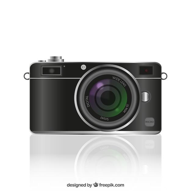 C mera de foto real stica baixar vetores gr tis for Camera gratis