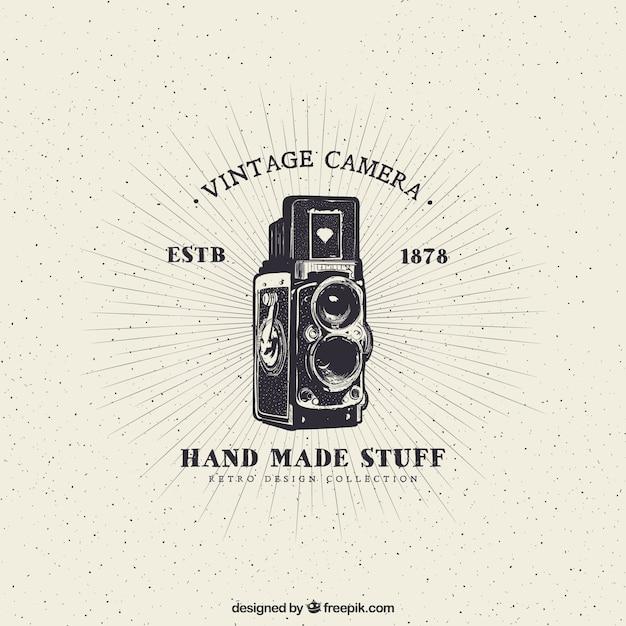 Câmera do vintage Vetor Premium