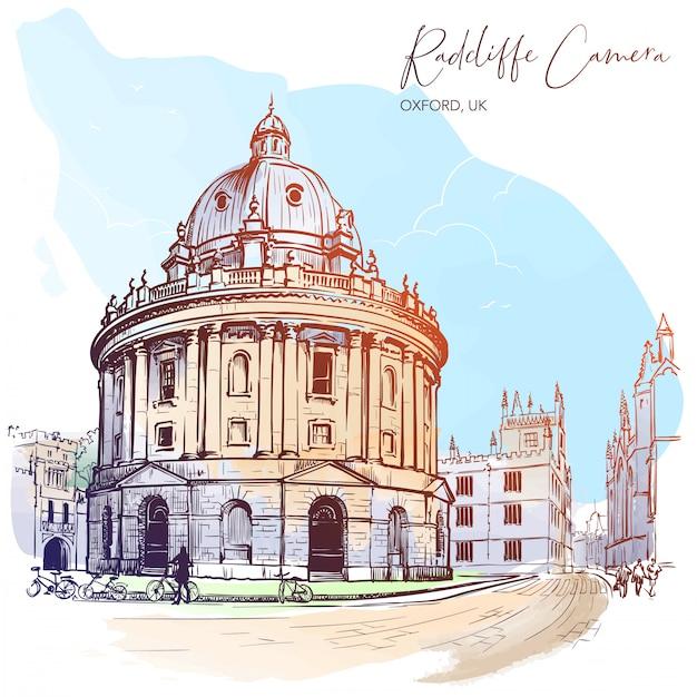 Câmera radcliffe. westminster, londres, reino unido. excelente exemplo da arquitetura paladiana. Vetor Premium