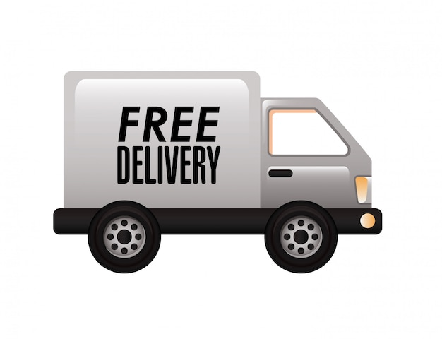 Caminhão de entrega Vetor grátis
