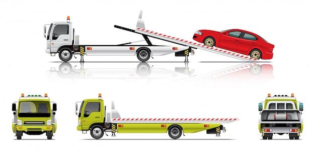 Caminhão de reboque deslizante Vetor Premium