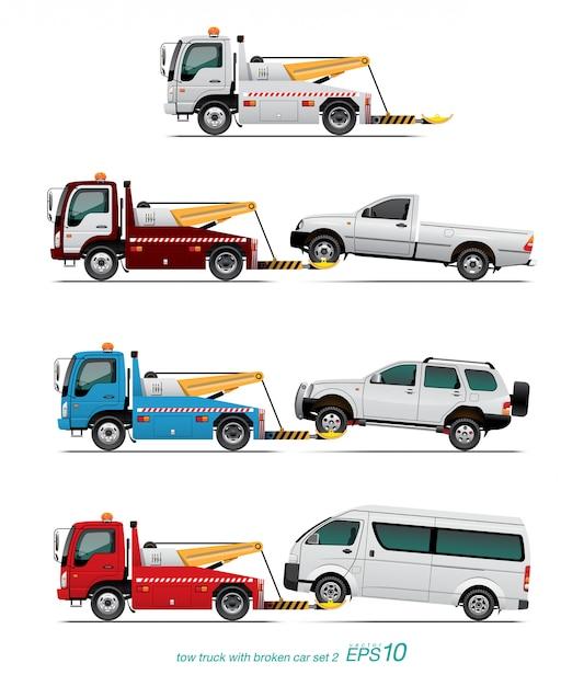 Caminhão de reboque Vetor Premium