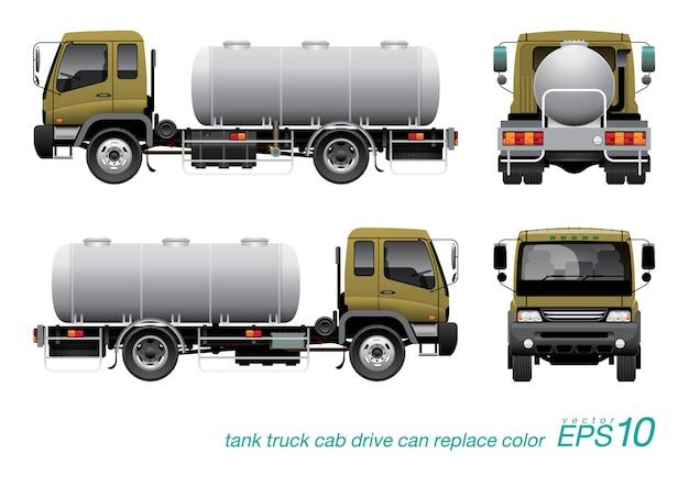 Caminhão-tanque de produtos químicos Vetor Premium