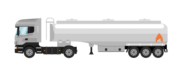 Caminhão tanque isolado no branco Vetor Premium