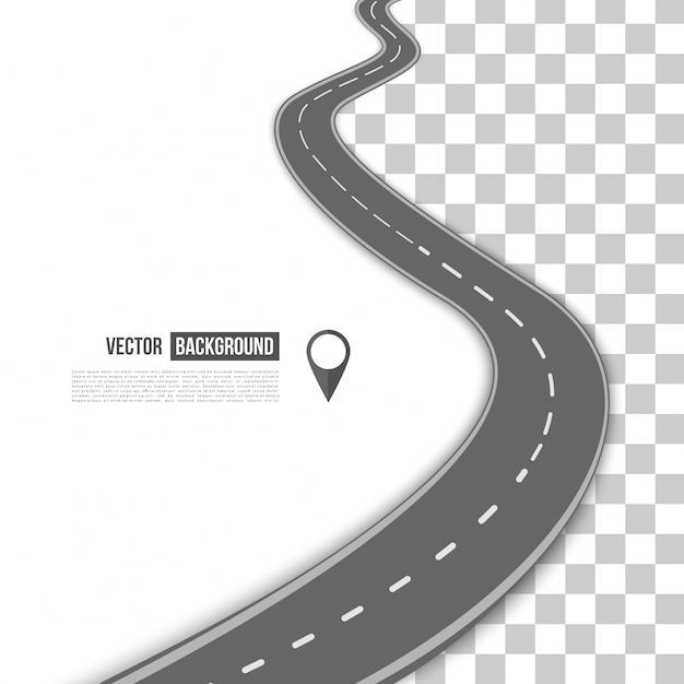 Caminho de vetor na estrada. Vetor grátis
