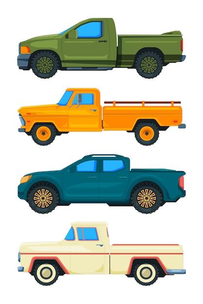 Caminhonete. transporte. ilustrações automóveis Vetor Premium