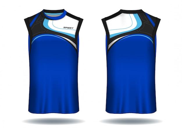 Camisa de basquete, ilustração de esporte regata. Vetor Premium