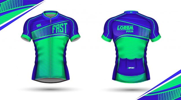 b96d1f0d09 Camisa de ciclismo à frente e atrás | Baixar vetores Premium