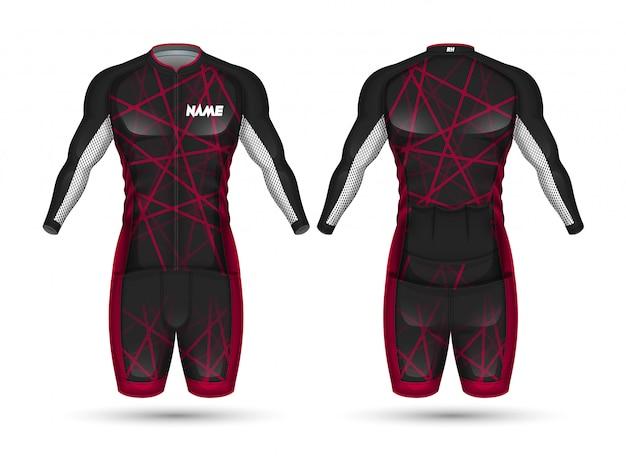 Camisa de ciclismo jersey Vetor Premium