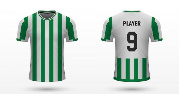 Camisa de futebol realista Vetor Premium