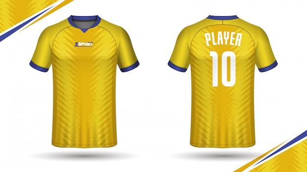 Camiseta de esporte de modelo de camisa de futebol Vetor Premium