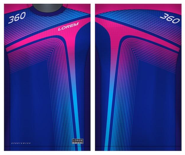 Camiseta esportiva para futebol Vetor Premium