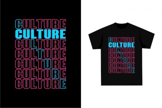Camiseta gráfica - cultura Vetor Premium