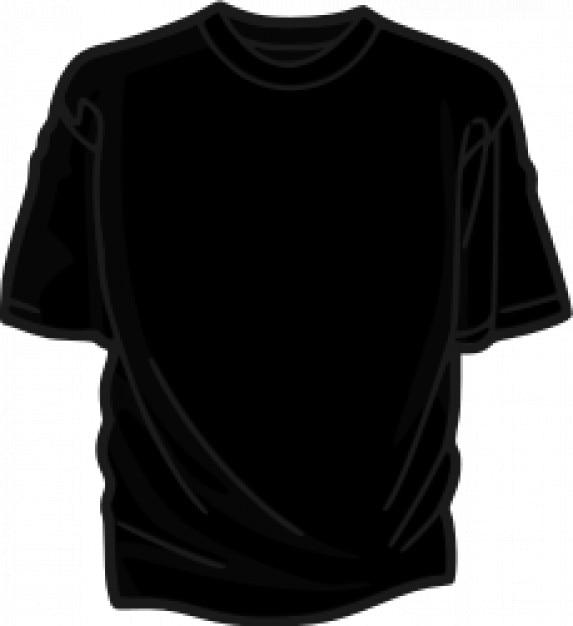 camiseta preta Vetor grátis