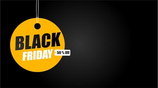 Campanha de promoção da black friday. cupons amarelos com etiquetas de desconto. Vetor Premium