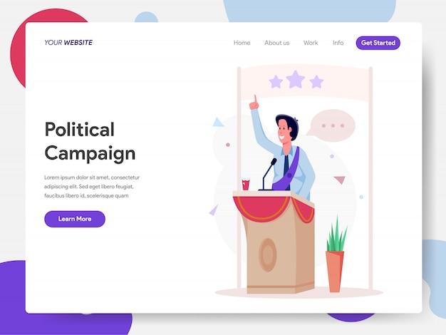 Campanha político no podium Vetor Premium