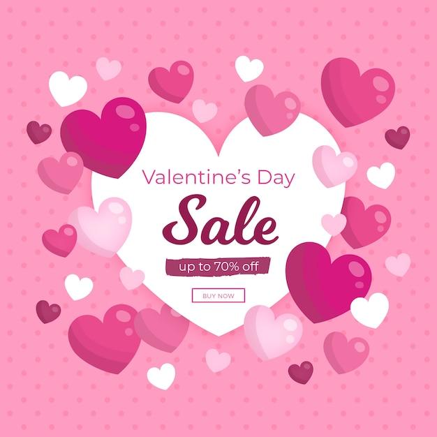 Campanha promocional de venda no dia dos namorados Vetor grátis
