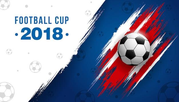 Campeonato da copa de futebol com bola fundo futebol Vetor Premium