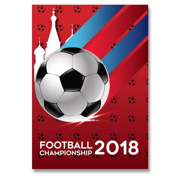 Campeonato de futebol 2018 Vetor Premium