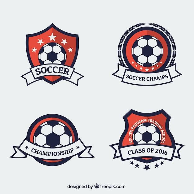 Campeonato emblemas de futebol Vetor grátis