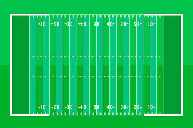 Campo de futebol americano de estilo simples Vetor grátis
