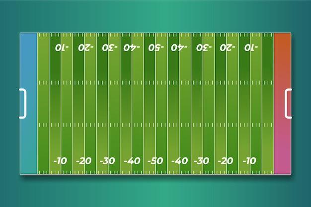 Campo de futebol americano plano em vista superior Vetor grátis