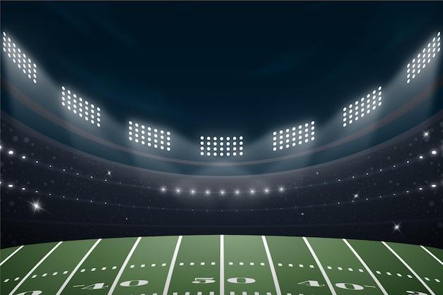 Campo de futebol americano realista Vetor grátis
