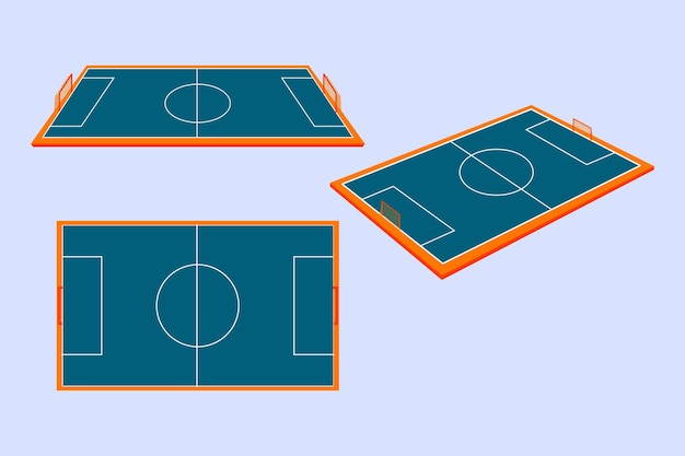 Campo de futsal isométrico Vetor grátis