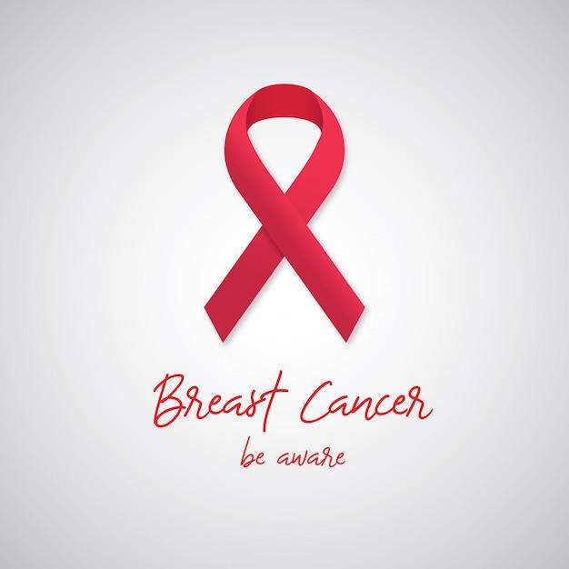 Câncer de mama - esteja atento Vetor Premium
